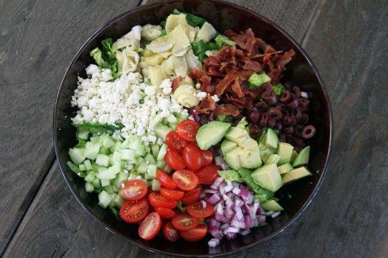 yummy salad and dressing!