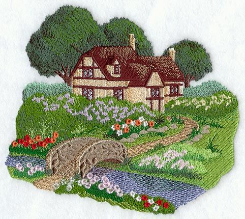 English Cottage Garden Scene design (A8951) from www ...