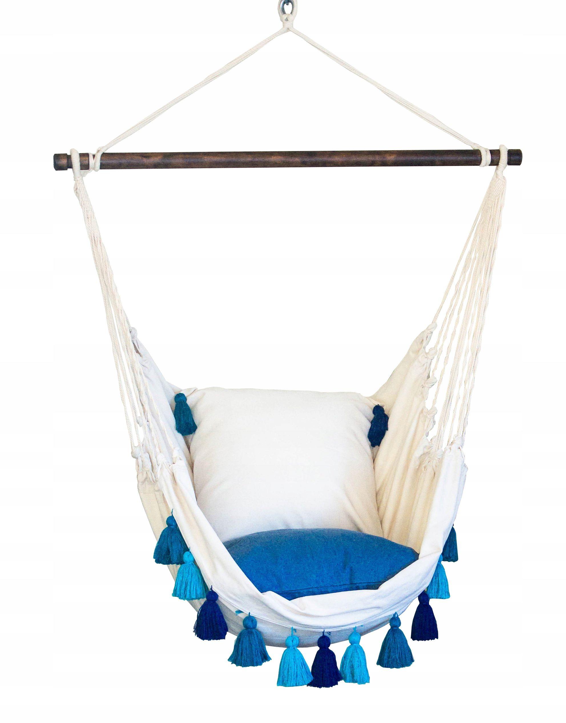 Kup Teraz Na Allegro Pl Za 129 Zl Krzeslo Brazylijskie Wiszace Z Poduszkami Boho Xxl 8128992685 Allegro Pl Radosc Za Hanging Chair Outdoor Decor Hammock
