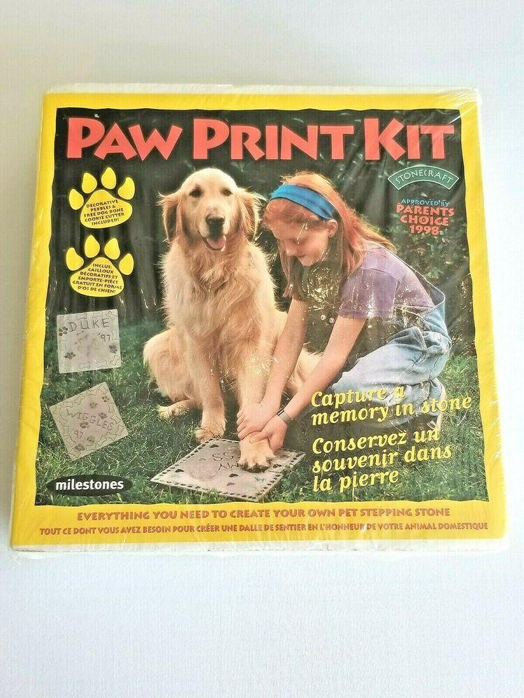 Paw Print Kit Decorative Pebbles Dog Bone Cookie Cutter