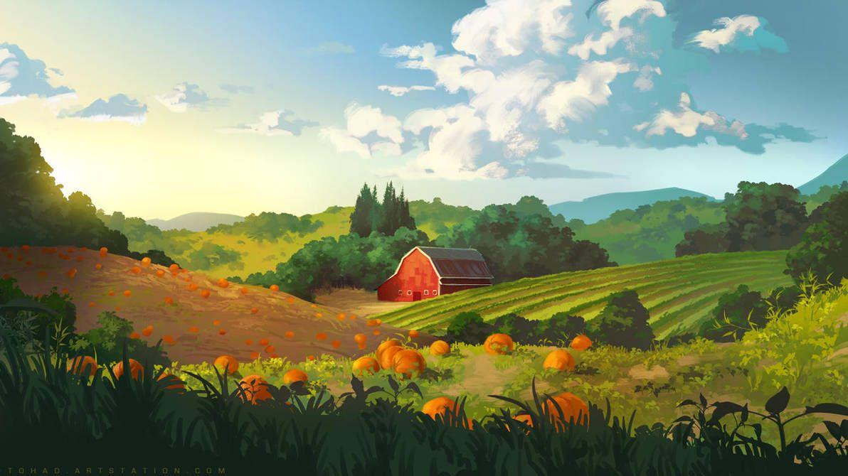 картинки фэнтези мультяшные сельской местности