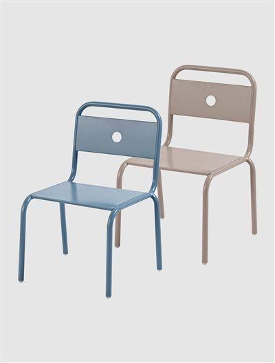 lot de 2 chaises mtal enfant bleu tauperose blanc vertbaudet enfant - Chaise Metal