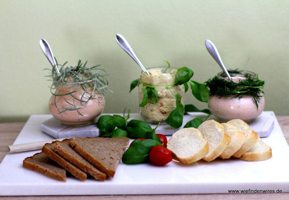 Dreierlei Dips - auch als Brotaufstrich geeignet