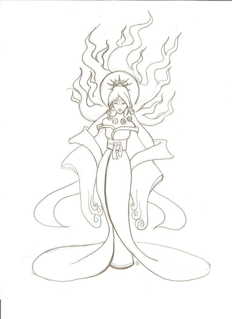 Amaterasu Shinto Goddess Of The Sun Amaterasu Color Activities