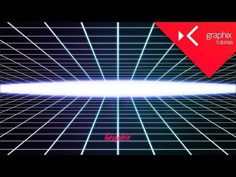 How To Make a Neon Grid 80s Based Wallpaper Tutorial