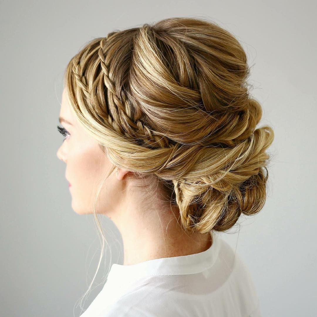 braided crown updo - so pretty!  ~ we ❤ this! moncheriprom.com