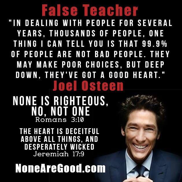 Is joel osteen a false teacher