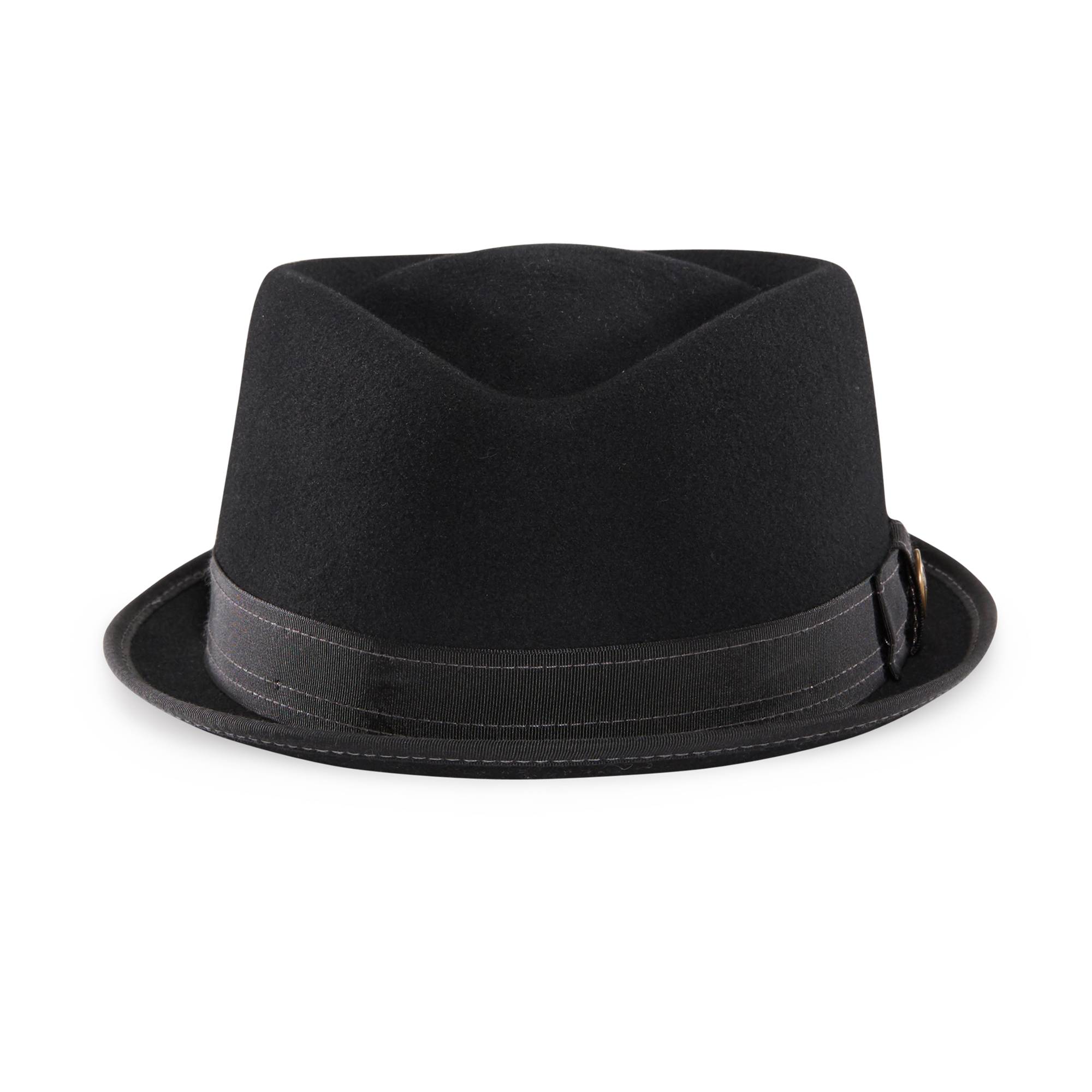 0505f162fa05c Smitty Felt Fedora Hat Black American Made Front View