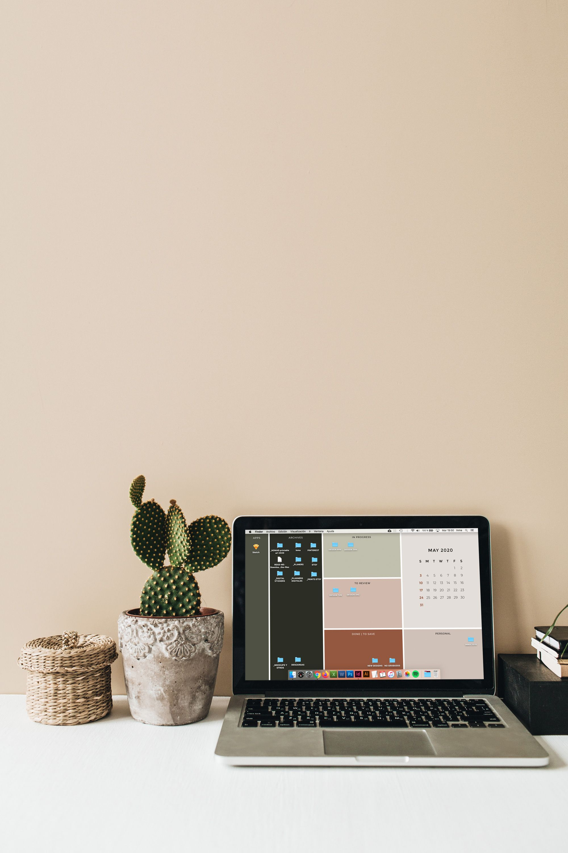 Desktop wallpaper organizer with 2020 2021 calendar | Etsy in 2020