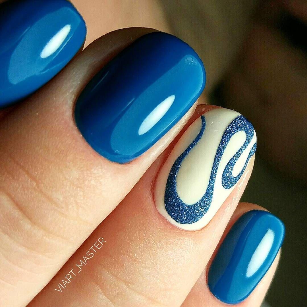 Pin de Inessa Loongoo en Blue nails