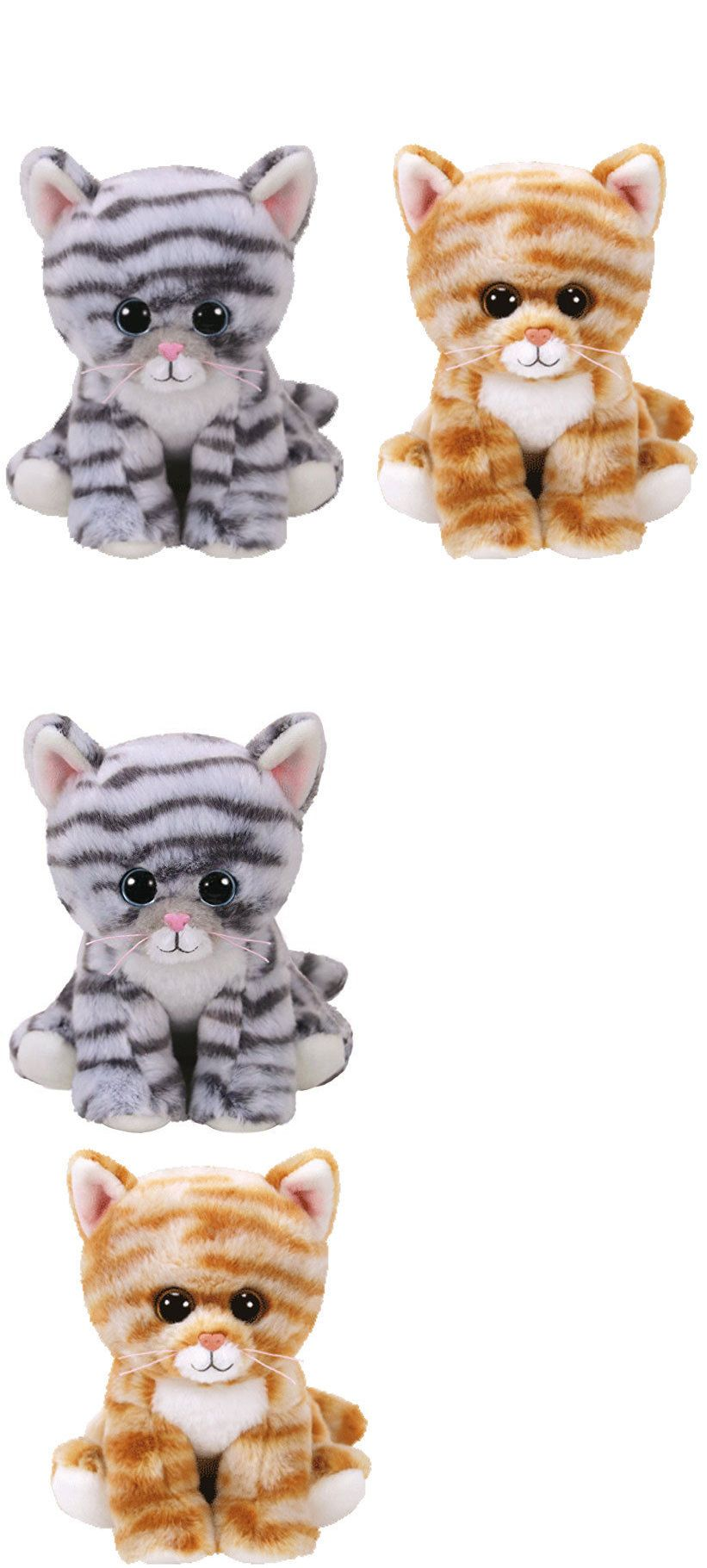 996160880df Current 165959  Set Of 2 Ty Beanie Baby 6 Millie And Cleo Tabby Cat Plush W  Mwmt S Ty Heart Tags -  BUY IT NOW ONLY   13.95 on eBay!