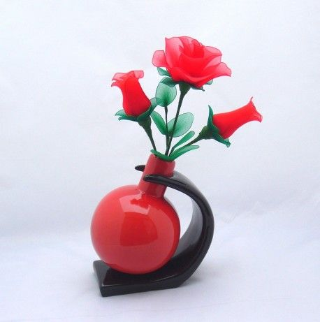 The Most Beautiful Interior Vase Design | Red Flower Vase