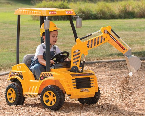 Motorized Dirt Digger Is A Ride On Construction Toy That