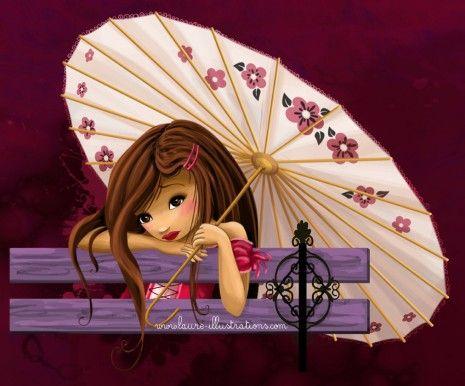 romantisme à l'ombrelle