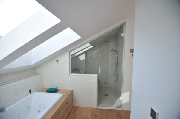 dampfsauna in dachschr ge bauen badgestaltung neues badezimmer badezimmer dachgeschoss