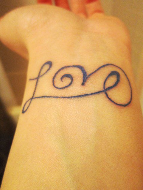 Cute Short Love Quote Tattoos For Girls   Black Short Love Quote Tattoos