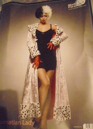 Kaufe meinen Artikel bei #Kleiderkreisel http://www.kleiderkreisel.de/damenmode/kostume/123100950-101-dalamatiner-cruella-kostum-grosse-m-bzw-38