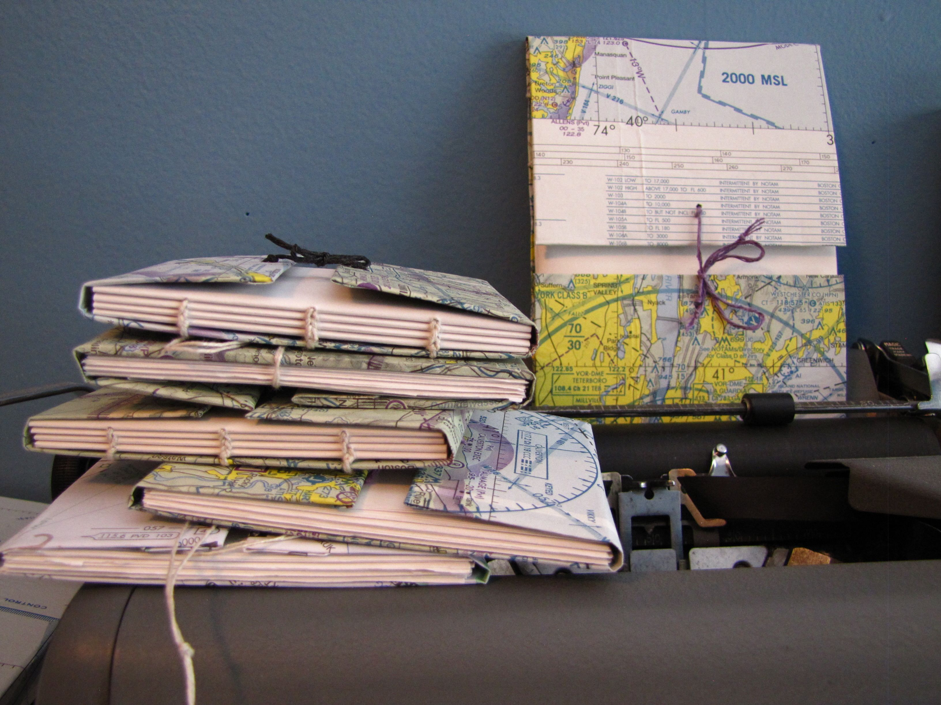 Mini Pocket Size Sketchbooks Covered With Outdated Aeronautical