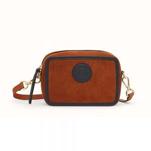 2820618613 Fendi Women Mini Camera Case Natural-Color Suede Bag