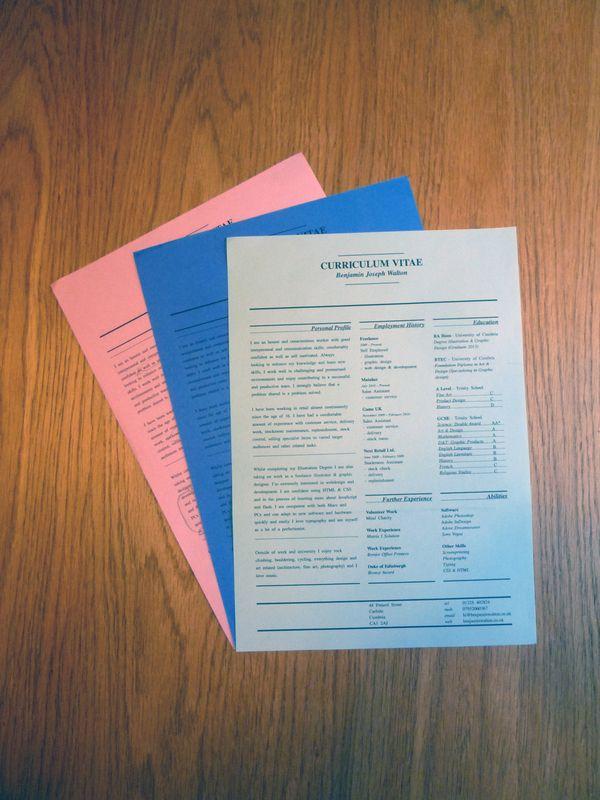 Curriculum Vitae by benjamin j walton - mistd, via Behance Career - resume vitae
