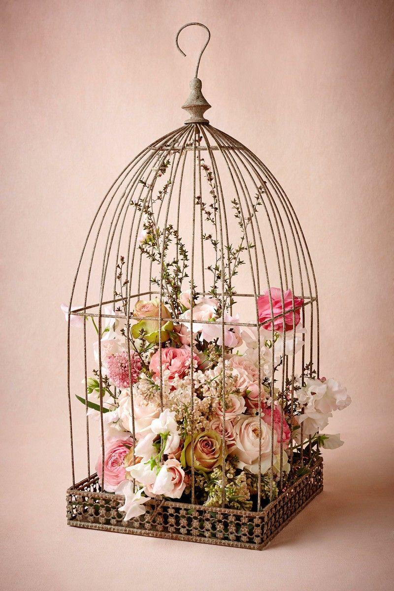 Birdcage With Images Bird Cage Decor Bird Cage Centerpiece Shabby Chic Decor