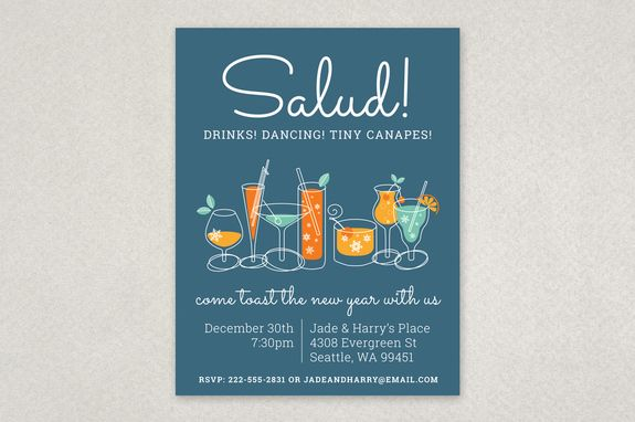 Illustrated Holiday Party Flyer Template This Fun And Festive