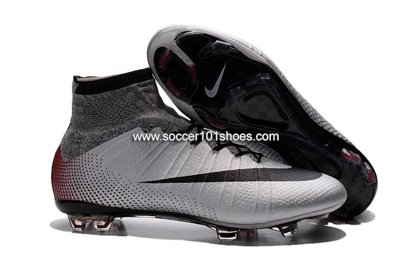 f8f35f1f4396 Nike Kids Mercurial X Superfly IV FG High Top Football Shoes Soccer Boots  Silver Grey  63.00