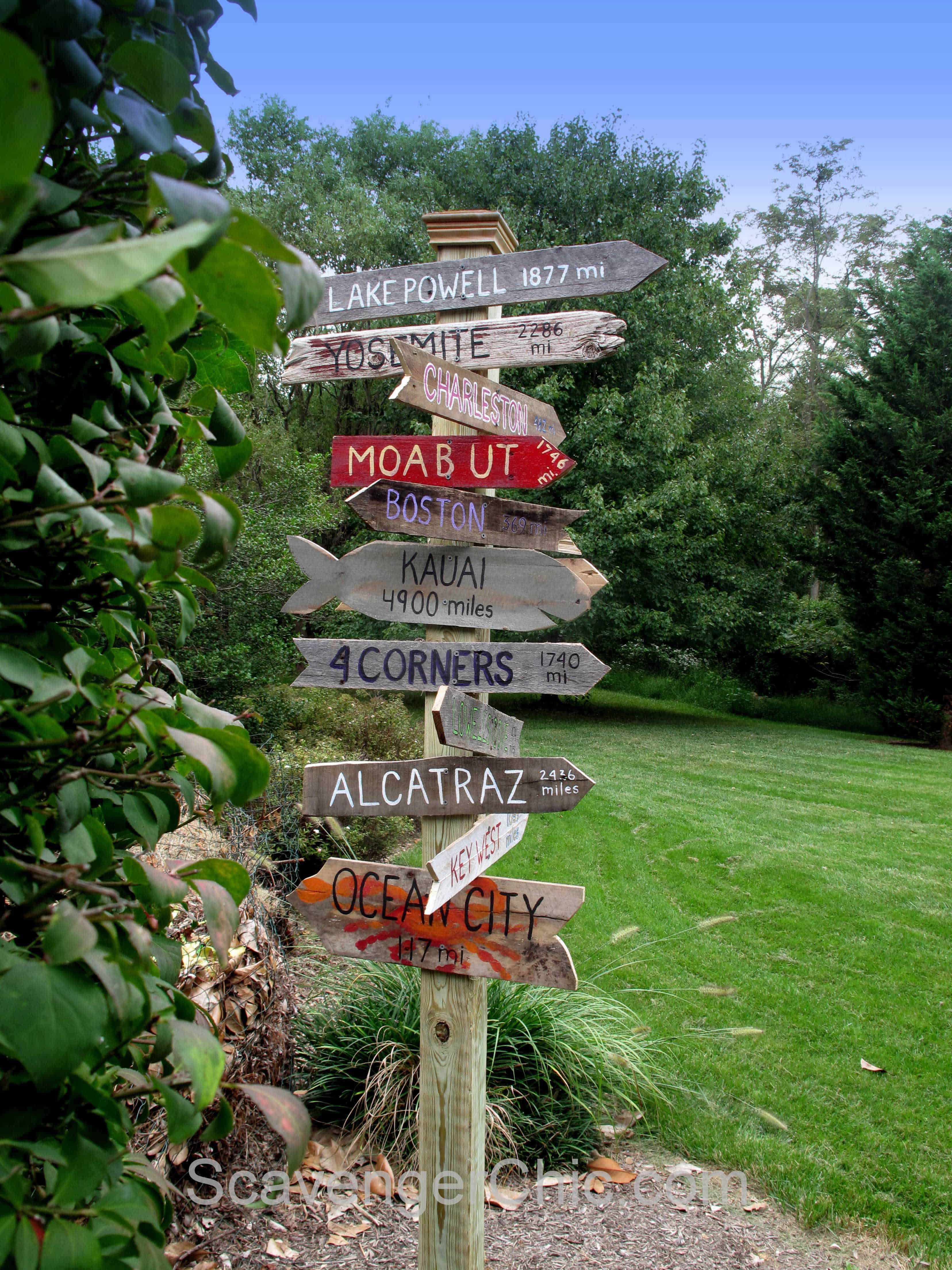 Signpost Made Out Of Pallet Wood | Pallets garden, Wood ...