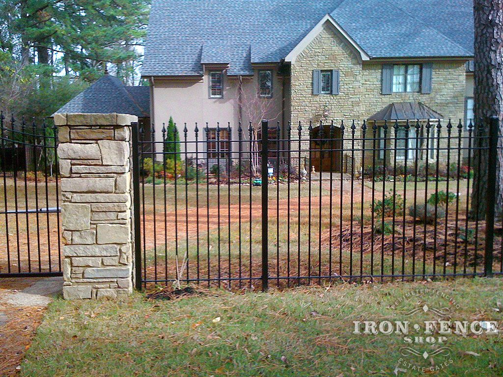 Iron Aluminum Fence Photo Gallery Iron Fence Shop With Images