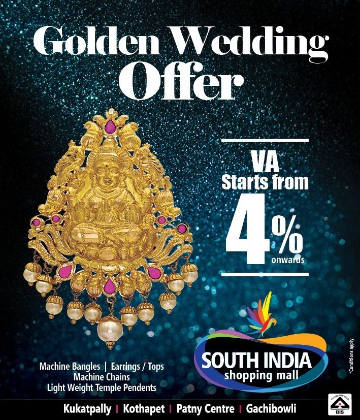 Golden Wedding fers SouthIndia Shopping Mall