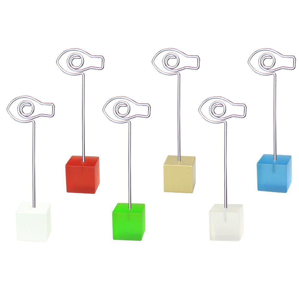 Cube base cartoon fish shape wire flyer photo holder clip,place card clips,show ad wire clamp,extravagant