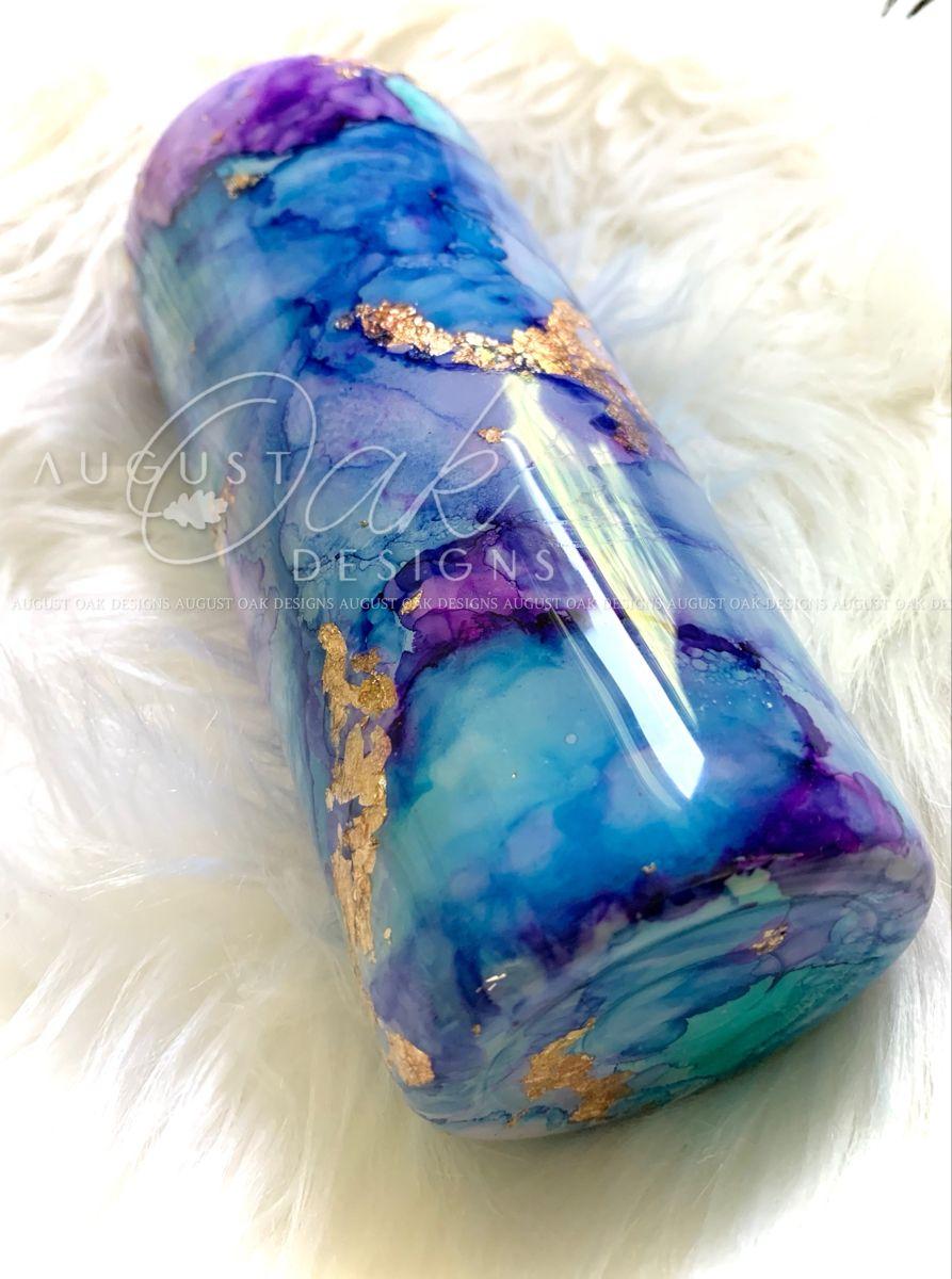 purple tumbler blue tumbler colorful tumbler marble tumbler 30oz alcohol ink tumbler unique tumbler glitter tumbler Marble tumbler
