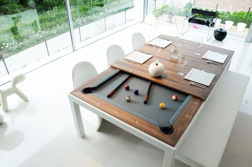 Superbe Room Table Convertible To A Great Pool Table Luxury Poker Dining Room