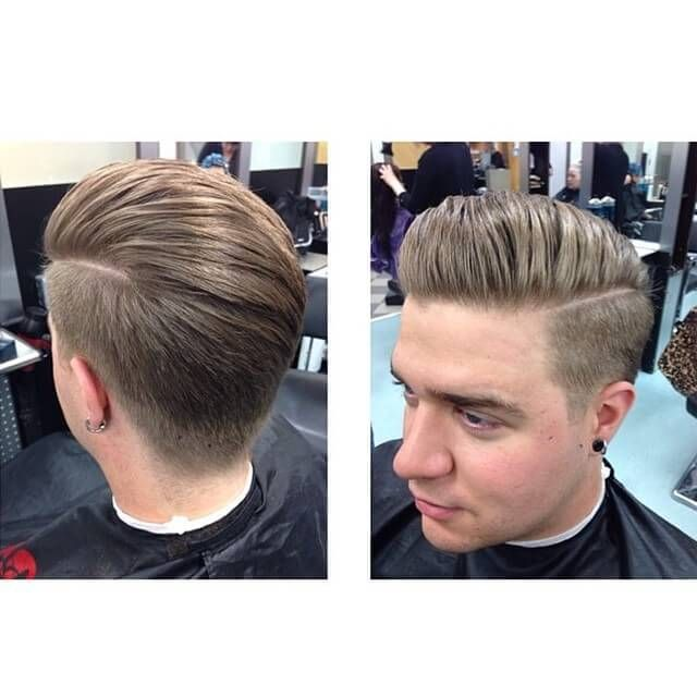 Amazing Pompadours Quiffs And Undercut Hairstyle Inspirations - Undercut hairstyle front view