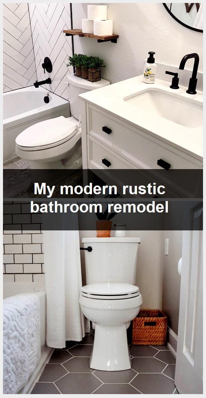 Photo of My modern rustic bathroom remodel,  #Bathroom #modern #remodel #Rustic