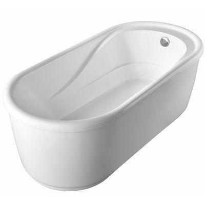 Luxier 67 X 32 Freestanding Soaking Bathtub Soaking Bathtubs Bathtub Things To Sell