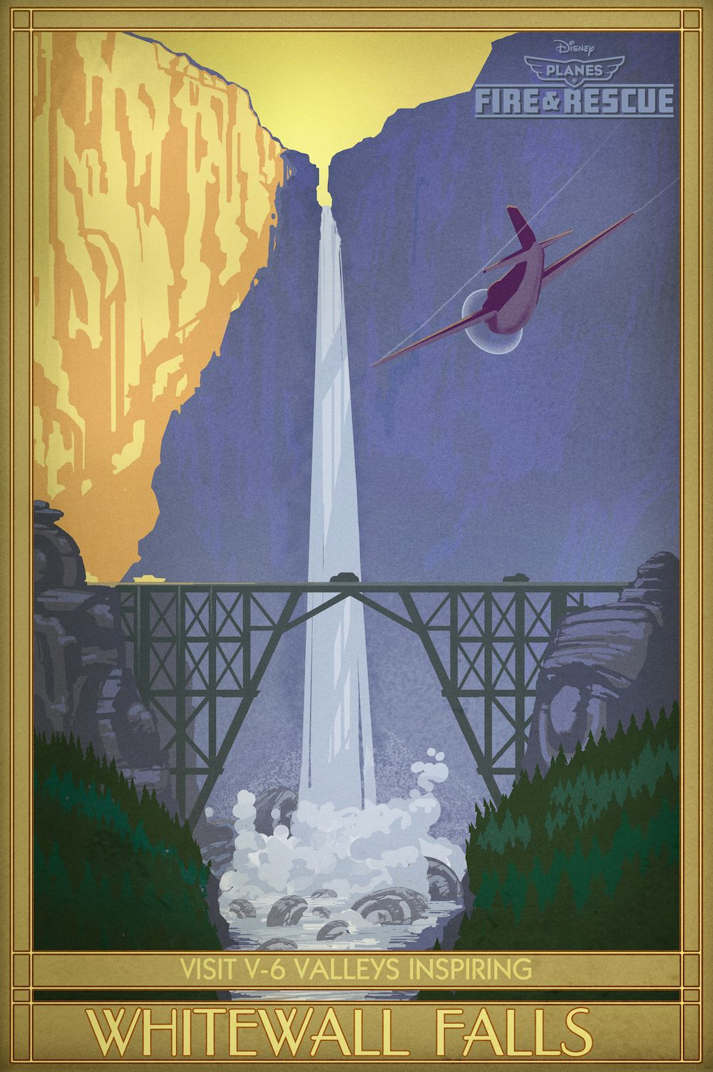 Planes 2 Fire And Rescue Vintage Concept Art Whitewater Falls Jpg