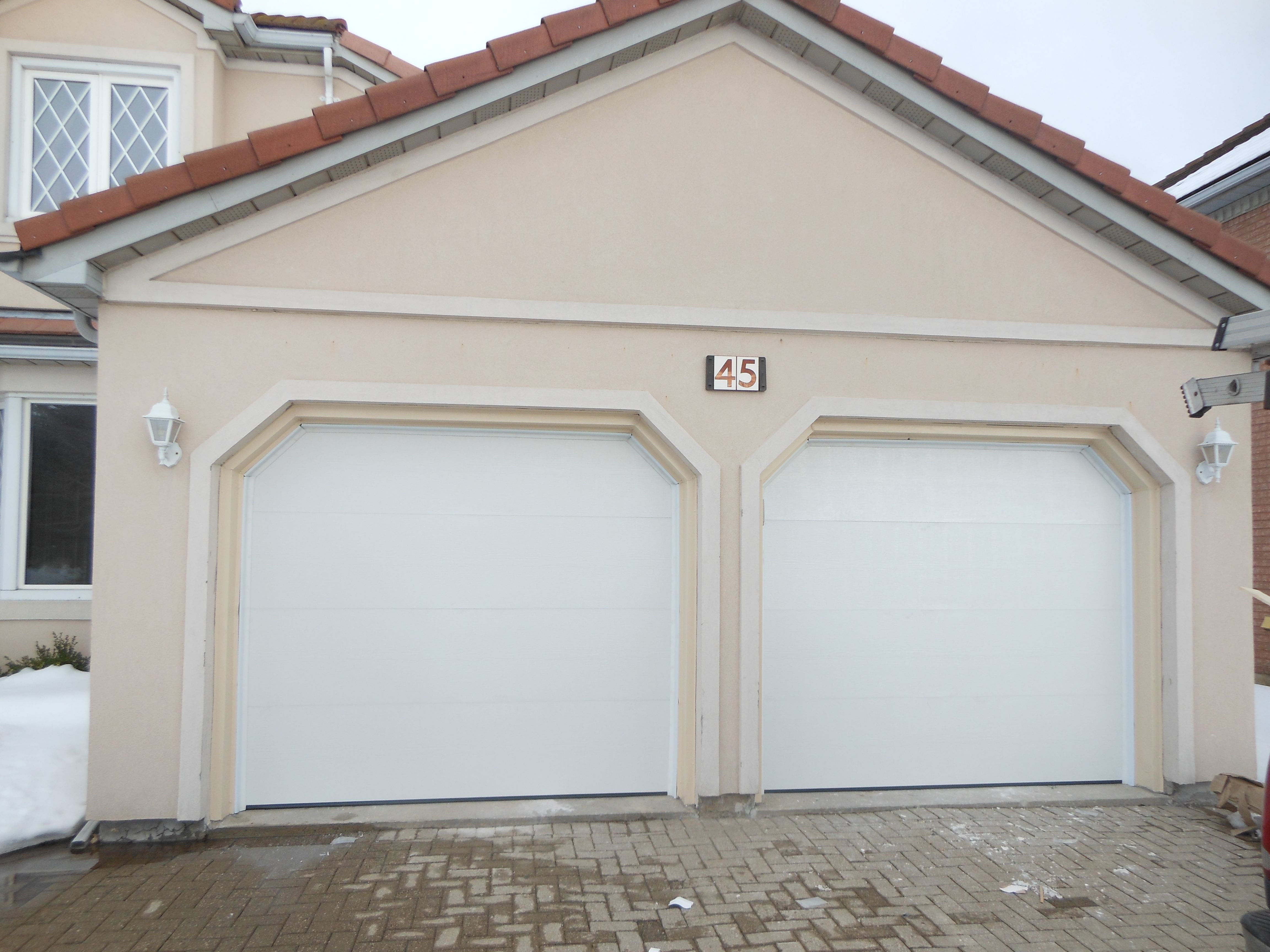 Garage Door Wood Grain Flush Garage Doors Wood Garage Doors Outdoor Decor