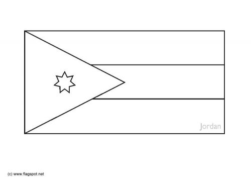 Flag Jordan T6288 Jpg 500 354 Jordan Flag Coloring Pages