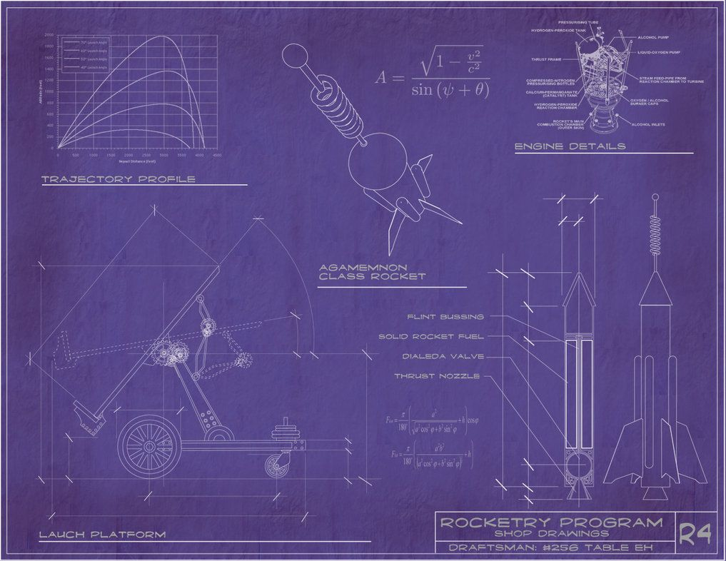 Steampunk rocket blueprints by rsandberg dt pinterest steampunk rocket blueprints by rsandberg malvernweather Images