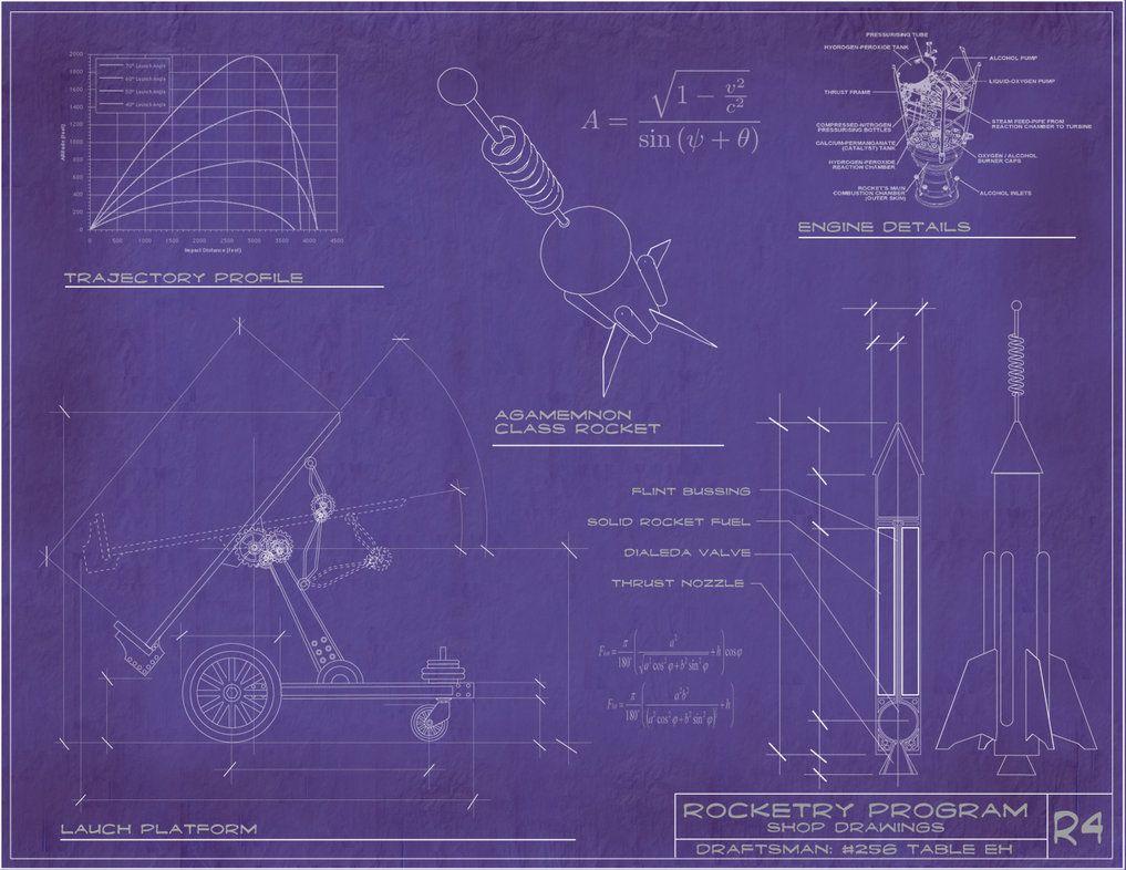 Steampunk rocket blueprints by rsandberg dt pinterest steampunk rocket blueprints malvernweather Images