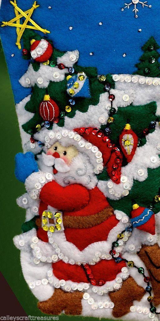 De Navidad En Fieltro Patrones. Si Alguna Vez Encontrais Cualquier ...