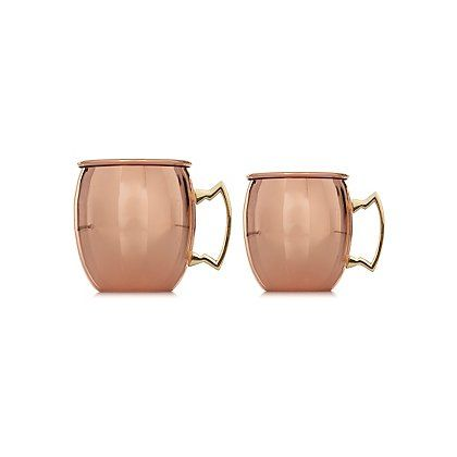 George Home Copper Moscow Mule Mugs Set Of 2 Garden