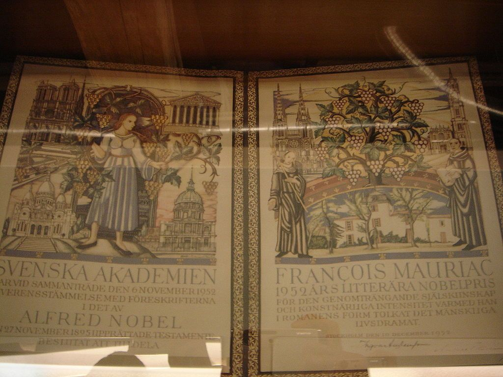 Le diplôme de François Mauriac.JPG