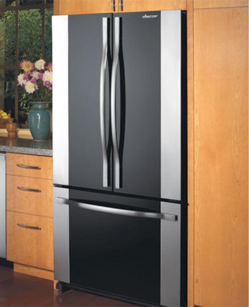 Dacor Refrigerator French Door with Cabinet Depth Bottom Freezer in Black Glass Design & Dacor Refrigerator French Door with Cabinet Depth Bottom Freezer ... pezcame.com