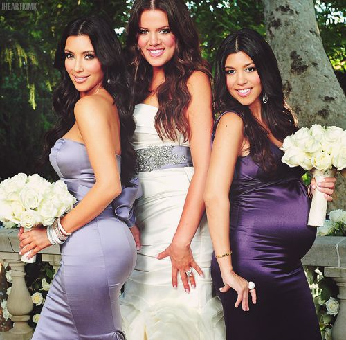 Khloe Kardashian Wedding Dress: Kardashian Sisters... Lovin' The Shades Of Purple