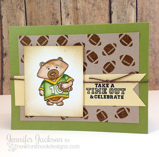 Football card by Jennifer Jackson | Touchdown Tails stamp set by Newton's Nook Designs #football #gopackgo