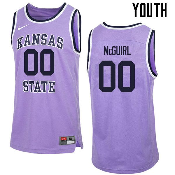 7a406397889 Youth #00 Mike McGuirl Kansas State Wildcats College Retro Basketball  Jerseys Sale-Purple