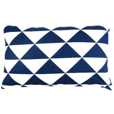 Kissenbezug Blau Indigo Dimensions Weiss Dreiecke Maritim 30 X 50