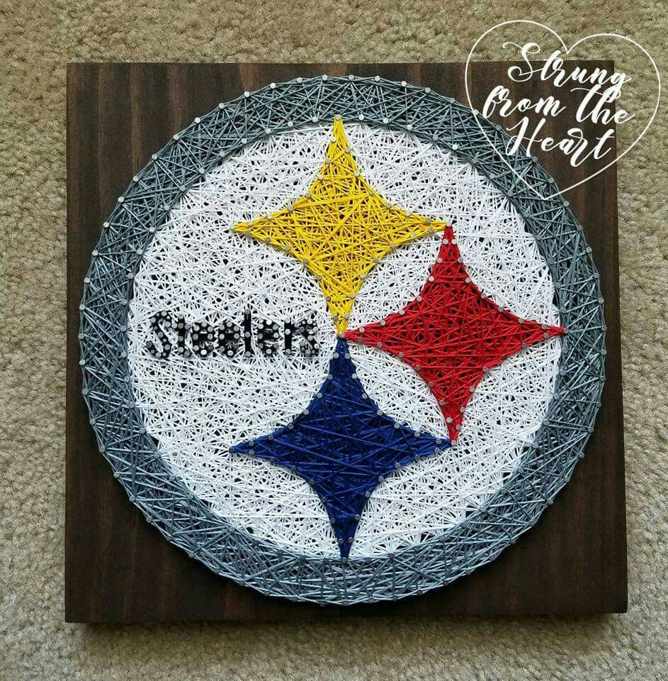Steelers String art sign by Strung from the Heart | String art ...